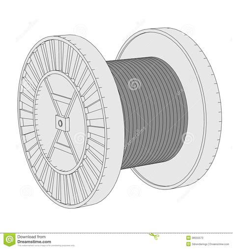 wire images image of wire spool stock photos image 38555573