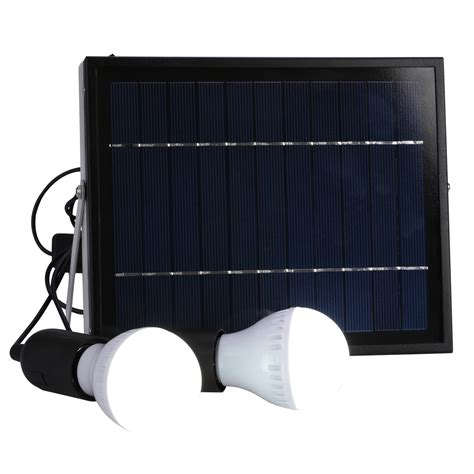 Indoor Outdoor Lighting Outdoor Solar Power Panel 2 Led Light L Usb Charger Home System Kit Garden Ebay