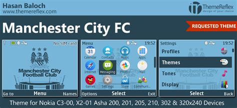 themes nokia x2 manchester united manchester city fc theme for nokia c3 00 x2 01 asha 200