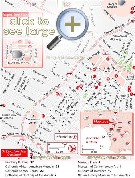 grand los angeles map los angeles maps top tourist attractions free