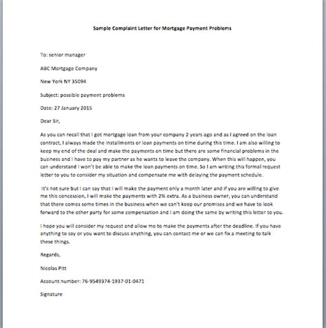 Complaint Letter Against Car Company Sle Letter To Mortgage Company For Submitting Enclosed Documents Smart Letters