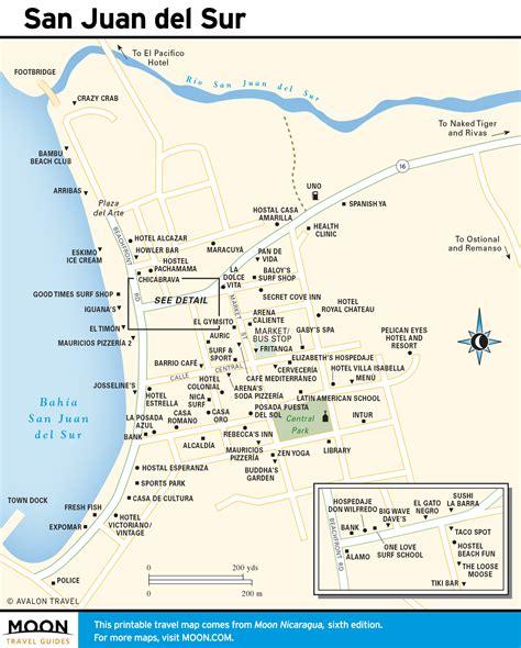 san jose nicaragua map printable travel maps of nicaragua moon travel guides