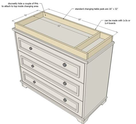 How To Make A Changing Table Diy Baby Changing Table Intersiec