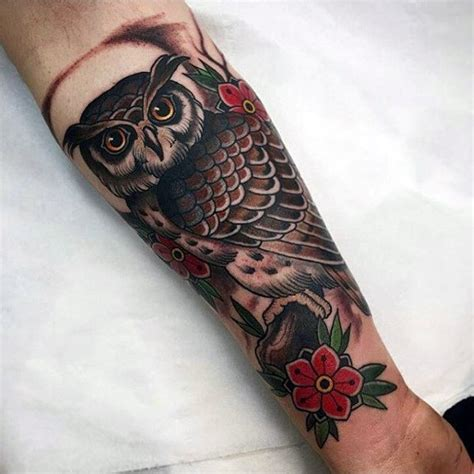 traditional owl tattoo meaning owl on forearm designs ideas and meaning tattoos