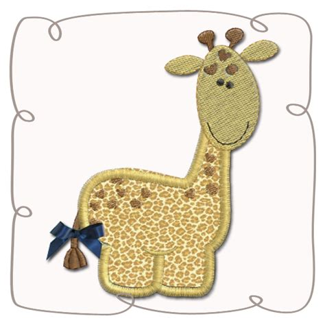giraffe applique giraffe applique machine embroidery design pattern instant