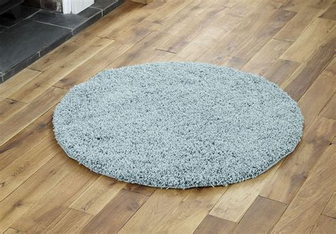 Modern Small Extra X Large Rug Thick 5cm Pile Duck Egg Small Rug