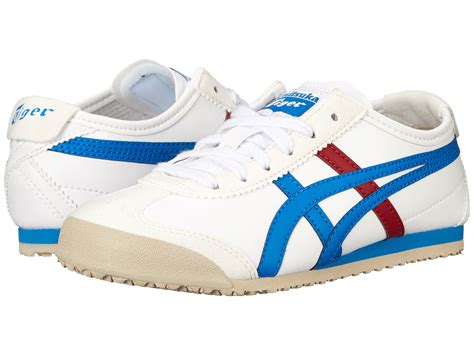 Po Original Onitsuka Tiger Mexico 66 Baby White Blue C6b5y 0145 onitsuka tiger by asics mexico 66 174 toddler kid white mid blue zappos free