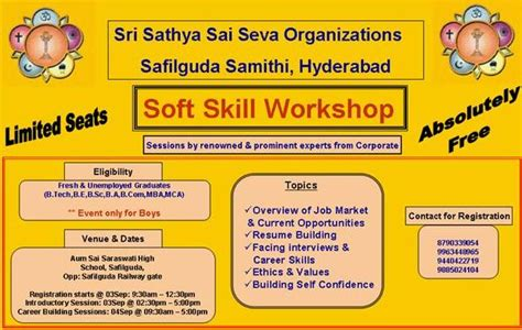 Soft Skills Topics For Mba Students by Workshop Soft Skills Free For Freshers