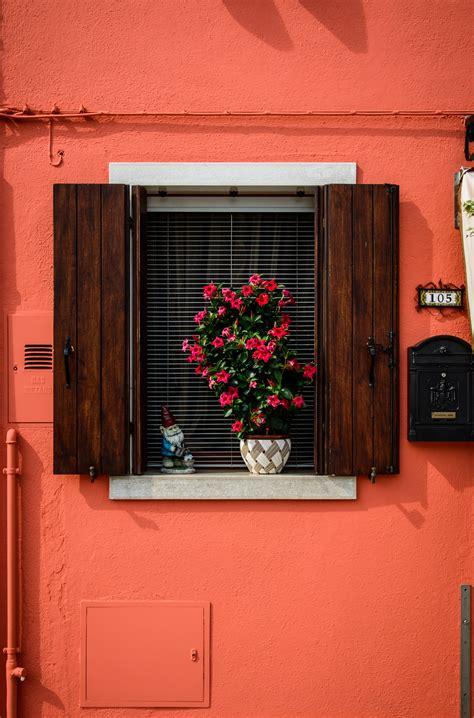 desain interior rumah warna merah gambar kayu rumah jendela bangunan dinding merah