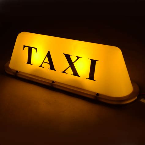 Taxi Light by Yellow Waterproof Large Size Magnetic 12v Roof Top Taxi Cab Sign Light L Kit Ebay