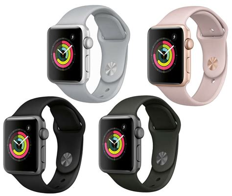 Apple Series 4 Colors by New Apple Series 3 38mm Smartwatch Gps Aluminum Sport Band Ebay