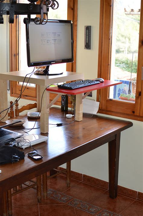 sit or stand desk adjustable sit stand desk 9 ways to build guide patterns