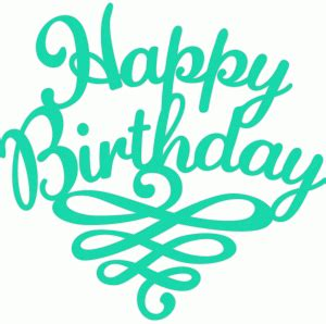 Silhouette Birthday Card Template by Silhouette Store View Design 45996 Happy