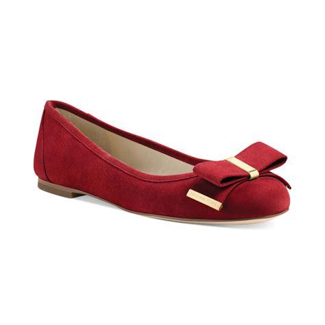 michael kors shoes flats michael kors michael kiera ballet flats in scarlet