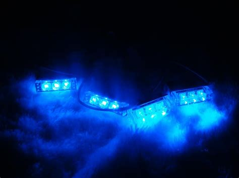 and blue led strobe lights 4x3 led waterproof emergency grill strobe lights blue