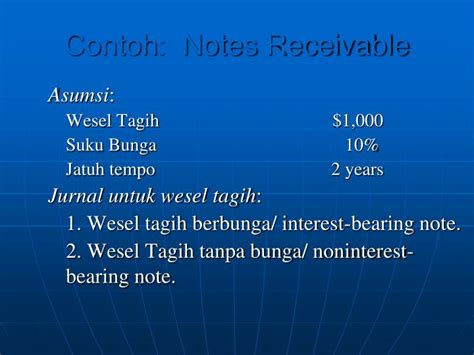 Contoh Noten by Ppt Wesel Tagih Powerpoint Presentation Id 7055964