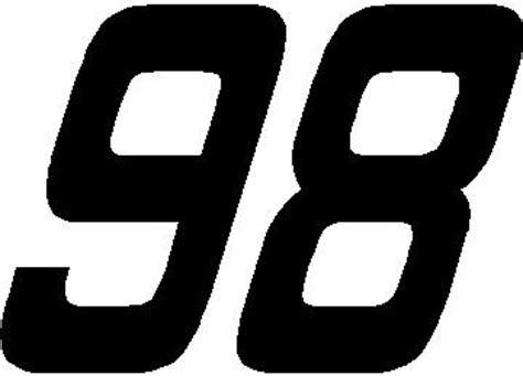 Height Chart Wall Stickers nascar decals 98 race number solid hemi head font decal