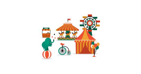 circus illustrations  vector  png  graphic cave