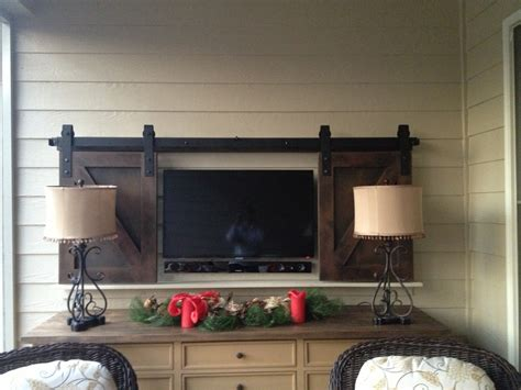 Barn Door Tv Cover Sliding Barn Doors Sliding Barn Doors To Cover Tv
