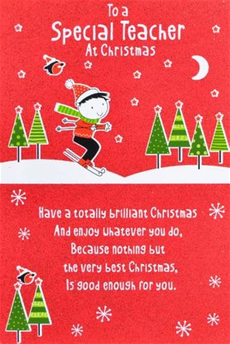 Printable Christmas Greeting Cards For Teachers | teacher christmas card