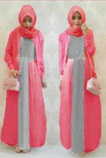Maxi Dress Merah Mikazo Spandek Stretch Tebal Murah Bagus mimy gamis set bahan spandek kaos pashmina dan blazer warna pink kombi abu lebar