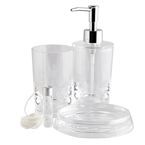 clear bathroom accessories george home accessories clear acrylic bathroom