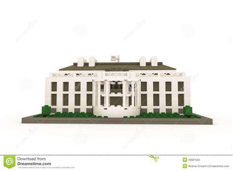 who made the white house white house made of plastic bricks stock illustration