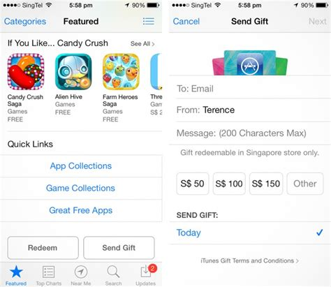Will Itunes Gift Card Work For App Store - itunes gift card now available in singapore