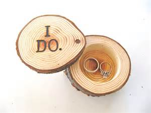 i do wedding rings rustic wood ring bearer box etched with i do onewed