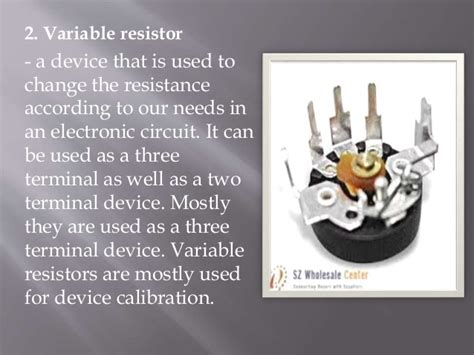 what s a variable resistor used for resistors types and uses
