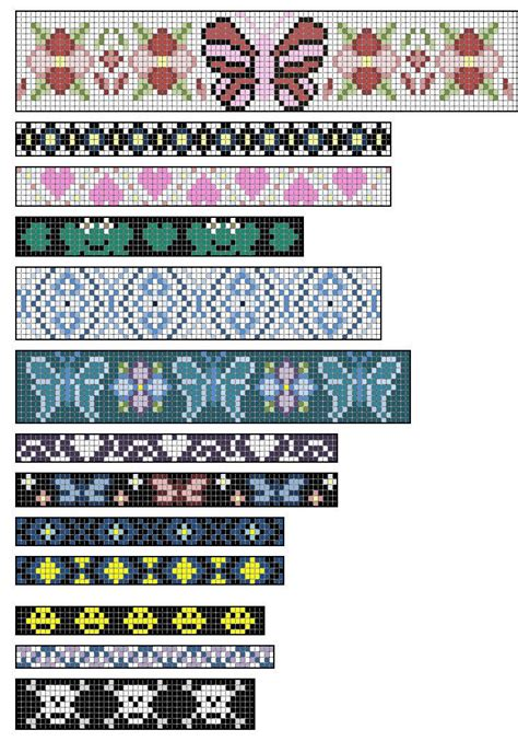 Free Printable Loom Beading Patterns Beaded Loom Patterns Design Patterns Working With Pin Loom Template