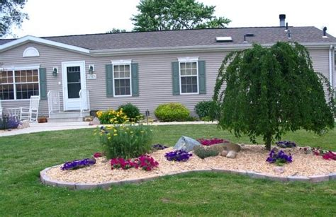 Landscaping Ideas Homes Mobile Home Landscaping On Wide Home