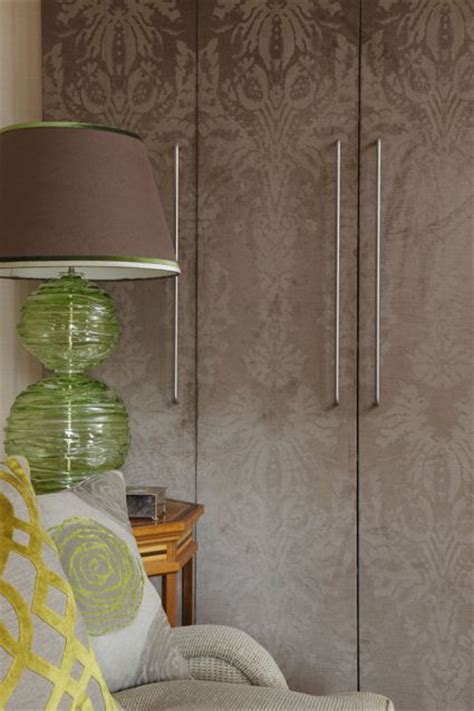 patterned wardrobe doors wallpaper bedroom decor ideas