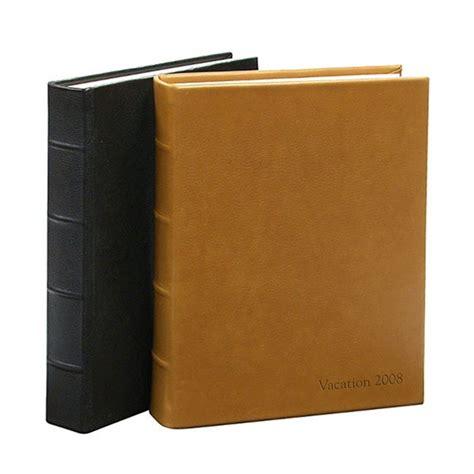 library bound leather photo album