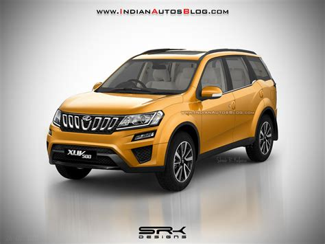 mahindra 500 xuv mahindra xuv500 facelift iab rendering with new grille