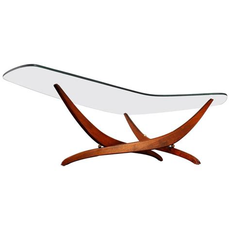 forest wilson coffee table forest wilson walnut and glass boomerang coffee table