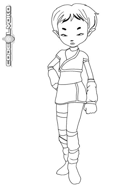 coloring page code lyoko coloring pages 3