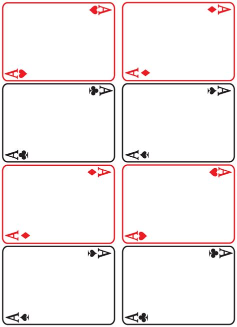 Blank Card Deck Template by Blank Cards White Gold