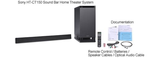 sony ht ct150 sound bar home theater system 3 1 channel