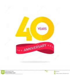 40 years anniversary logo 40th anniversary icon label