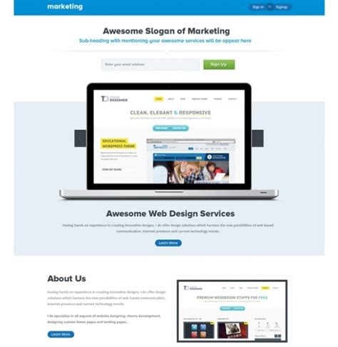 photoshop template offer awesome marketing landing page template psd freebie