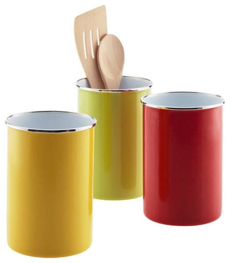 Unique Kitchen Utensils by Enamel Utensil Holder Contemporary Utensil Holders And
