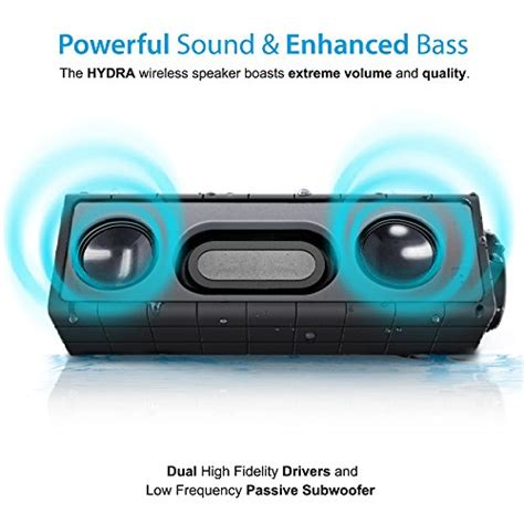 Askmeer X8 Portable Bluetooth Speaker Waterproof Ipx66 photive hydra portable bluetooth speaker with enhanced bass waterproof rugged portable speaker