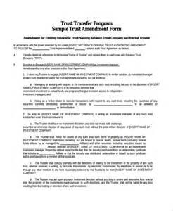 Living Trust Templates by Sle Trust Amendment Form 7 Free Documents