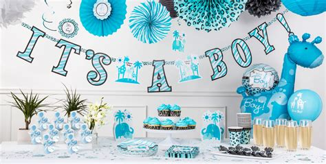 Blue Safari Baby Shower blue safari baby shower supplies city canada