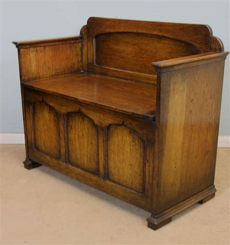 storage bench oak antique victorian georgian edwardian furniture the