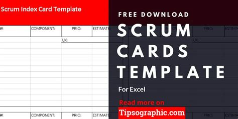 meeting place cards template scrum cards template for excel free tipsographic