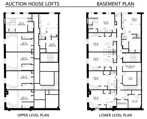 Home Floor Plans With Basement Floorplans The Auction House