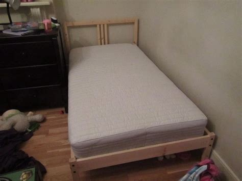 ikea fjellse single bed frame with sultan hurva grey