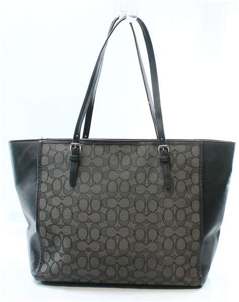 Coach Turnlock Tote Black Tas Asli Original Bag Authentic Bag 1 coach black jacquard signature c turnlock leather tote bag purse 285 065 ebay